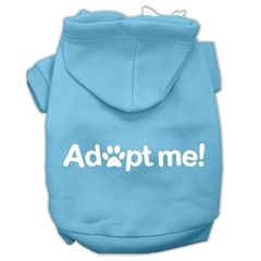 Dog Hoodies: ADOPT ME Screen Print Dog Hoodie by Mirage Pet Products USA