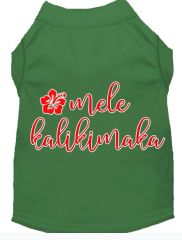 Dog Shirts: Christmas Screen Print Dog Shirt in Various Colors & Sizes by MiragePetProducts - MELE KALIKIMAKA