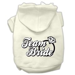 Dog Hoodies: TEAM BRIDE Screened Print Dog Hoodie in Various Colors and Sizes by Mirage