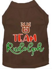 Dog Shirts: Christmas Screen Print Dog Shirt in Various Colors & Sizes by MiragePetProducts - TEAM RUDOLPH