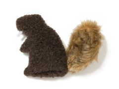 Dog Toys: Dam Beaver Shape Toy Snuggly Fabric with Squeaker by West Paw Design