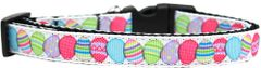 Holiday Dog Collars: Nylon Ribbon Dog Collar Mirage Pet Products USA - EASTER EGGS