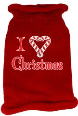 Dog Sweaters: Screen Print I LOVE CHRISTMAS Knit Dog Sweater in Different Colors & Sizes - Mirage