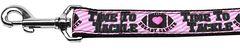 Nylon Dog Leashes: Tackle Breast Cancer Nylon Dog Leash Mirage Pet Products USA