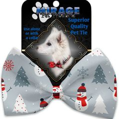DOG BOW TIE: Decorative & Classy Silky Polyester Bow Tie for Dogs - LOOK AT FROSTY GO