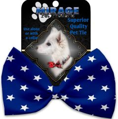 DOG BOW TIE: Decorative & Classy Silky Polyester Dog Tie with PATRIOTIC in 8 Different Designs