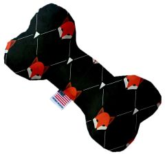 PET TOYS: Soft Durable Fabric or Canvas Bone Shape Pet Toy in 3 Sizes Made in USA by MiragePetProducts - FOX PLAID
