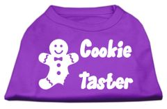 Dog Shirts: COOKIE TASTER Screen Print Dog Shirt in Various Colors & Sizes by Mirage