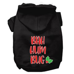 Dog Hoodies: Bah HumBug Screen Print Dog Hoodie in Various Colors & Sizes by Mirage