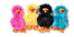Plush Dog Toys: Fuzzy Spring Chicken with Bold, Fun Colors and Squeaker