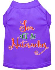 Dog Shirts: Christmas Screen Print Dog Shirt in Various Colors & Sizes by MiragePetProducts - SON OF A NUTCRACKER