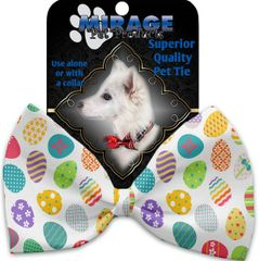 DOG BOW TIE: Decorative & Classy Silky Polyester Bow Tie for Dogs - EASTER EGGS