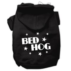 Dog Hoodies: BED HOG Screen Print Dog Hoodie in Various Colors & Sizes by MiragePetProducts