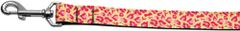 Nylon Dog Leashes: Tan and Pink Leopard Nylon Dog Leash Mirage Pet Products USA
