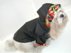 Hooded Dog Raincoats: Reinforced Nylon Durable Urethane Dog Raincoat with COTTON LINING