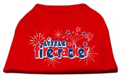 Dog Shirts: LITTLE FIRECRACKER Screen Print Dog Shirt in Various Colors & Sizes by Mirage