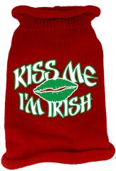 Dog Sweaters: Screen Print KISS ME I'M IRISH Knit Dog Sweater in Different Colors & Sizes - Mirage