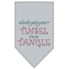 Dog Bandanas: Rhinestone Dog Bandana 'TINSEL IN A TANGLE' Different Colors in Small or Large by Mirage USA