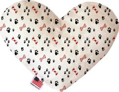 PET TOYS: Soft Velvety Fabric Heart Shape Pet Toy SWEET PAWS in Two Sizes Made in USA by MiragePetProducts