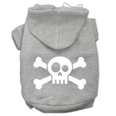 Dog Hoodies: SKULL CROSSBONE Screen Print Dog Hoodie in Various Colors & Sizes by MiragePetProducts