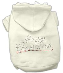 Dog Hoodies: Rhinestone MERRY CHRISTMAS Dog Hoodie by Mirage Pet Products USA