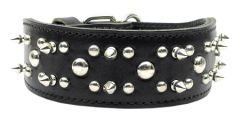 Spiked Dog Collars: Genuine Leather Dog Collar Mirage Pet Products USA - RODEO