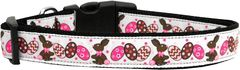 Holiday Dog Collars: Nylon Ribbon Dog Collar Mirage Pet Products USA - CHOCOLATE BUNNIES