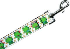 Nylon Dog Leashes: HAPPY FROGS Nylon Dog Leash Mirage Pet Products USA