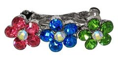 Dog Hair Accessories: Rhinestones Flower Shape French Barrette Clip for dogs (3) Color Choices by Mirage