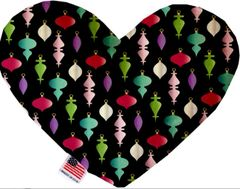 PET TOYS: Soft Velvety Fabric Heart Shape Pet Toy - ORNAMENTS in 2 Patterns/2 Sizes Made in USA by MiragePetProducts
