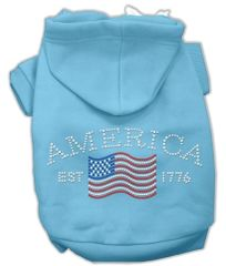 Dog Hoodies: CLASSIC AMERICA Rhinestone Dog Hoodie by Mirage Pet Products USA