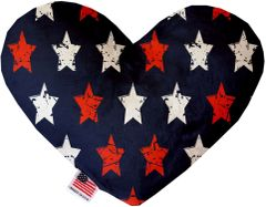 PET TOYS: Soft Velvety Fabric Heart Shape Pet Toy GRAFFITI STARS in Two Sizes Made in USA by MiragePetProducts
