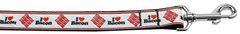 Nylon Dog Leashes: I (Heart) Bacon Nylon Dog Leash Mirage Pet Products USA