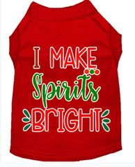 Dog Shirts: Christmas Screen Print Dog Shirt in Various Colors & Sizes by MiragePetProducts - I MAKE SPIRITS BRIGHT
