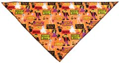 Dog Bandanas: Halloween Bandanas in Different Designs & 2 Sizes by MiragePetProducts Made in USA