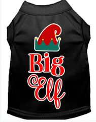Dog Shirts: Christmas Screen Print Dog Shirt in Various Colors & Sizes by MiragePetProducts - BIG ELF