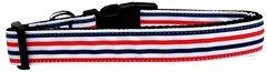 Dog Collars: Nylon Ribbon Collar by Mirage Pet Products USA - PATRIOTIC STRIPES