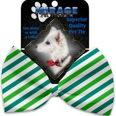 DOG BOW TIE: Decorative & Classy Silky Polyester Bow Tie for Dogs - LUCKY STRIPES
