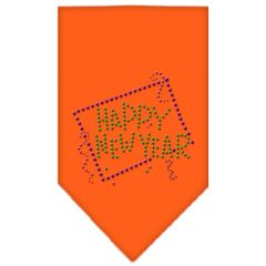 Dog Bandanas: Rhinestone Dog Bandana 'HAPPY NEW YEAR' Different Colors Sizes Small or Large by Mirage USA