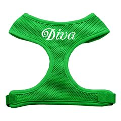 "Dog Harnesses: Screen Print - ""DIVA"" Soft Mesh Dog Harness in Several Sizes & Colors USA"