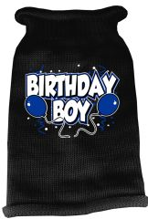 Dog Sweaters: Screen Print BIRTHDAY BOY Knit Dog Sweater in Different Colors & Sizes - Mirage