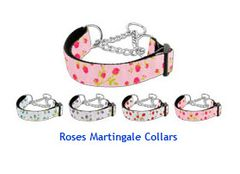 Martingale Dog Collars: ROSES Nylon Ribbon Dog Collar Mirage Pet Products USA