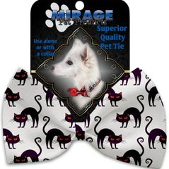 DOG BOW TIE: Decorative & Classy Silky Polyester Bow Tie for Dogs - PURPLE KITTENS