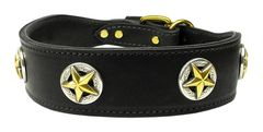 Leather Dog Collars: Genuine Leather Dog Collar Mirage Pet Products USA - LONE STAR