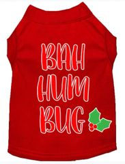 Dog Shirts: Christmas Screen Print Dog Shirt in Various Colors & Sizes by Mirage - BAH HUMBUG