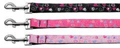 Nylon Dog Leashes: Crazy Hearts Nylon Dog Leash Mirage Pet Products USA