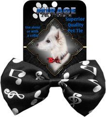 DOG BOW TIE: Decorative & Classy Silky Polyester Dog Tie with Durable Elastic Band - CLASSICAL MUSIC