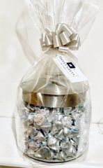 OVERSIZED CANDY JAR FILLED WITH HERSHEY KISSES