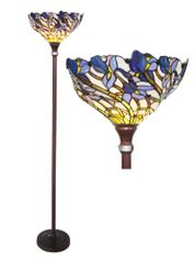 IRIS 17 Inch 1-Light Tiffany Style Floral Floor Lamp, CH1B701BF17-TF1