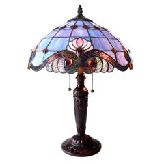SHELLY 15 Inch 2-Light Victorian Tiffany Style Table Lamp, CH15063LV15-TL2